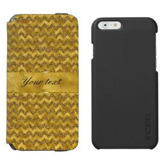 魅力的で模造のな金ゴールドのグリッターのシェブロン INCIPIO WATSON™ iPhone 5 財布型ケース