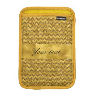 魅力的で模造のな金ゴールドのグリッターのシェブロン iPad MINIスリーブ