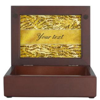 魅力的で模造のな金ゴールドホイルのシマウマパターン ジュエリーボックス
