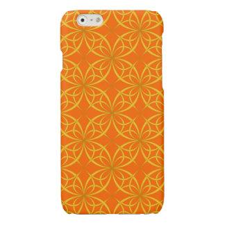 魅力的なオレンジ花パターン
