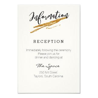 魅力的なグリッターの白黒情報カード カード