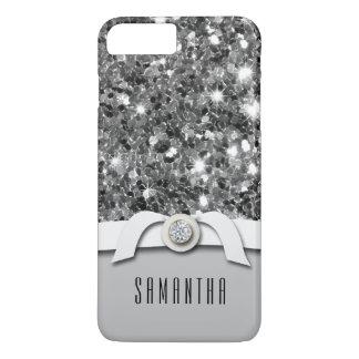魅力的なダイヤモンドおよび銀のグリッターの紙吹雪の箱 iPhone 8 PLUS/7 PLUSケース