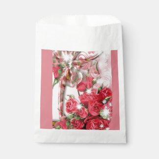 魅力的なピンクのバラのコレクション フェイバーバッグ