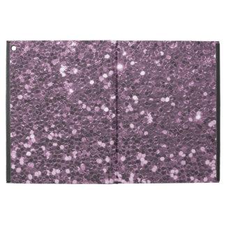 """魅力的なラベンダーの紫色の模造のなグリッターのプリント iPad PRO 12.9"""" ケース"""