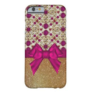 魅力的なルビーおよび金ゴールドのiPhone6ケース Barely There iPhone 6 ケース