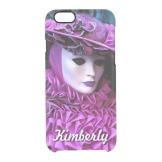 魅力的な女性With Purple Carnival Costume クリアiPhone 6/6Sケース