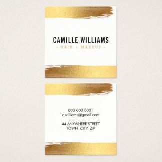 魅力的な最小主義の贅沢で模造のな金ゴールドホイルのブラシの打撃 スクエア名刺