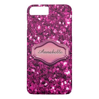 魅力的な模倣されたピンクのきらめくグリッターの場合 iPhone 8 PLUS/7 PLUSケース