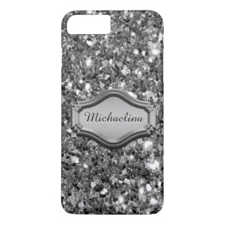 魅力的な模倣された銀製のきらめくグリッターの場合 iPhone 8 PLUS/7 PLUSケース