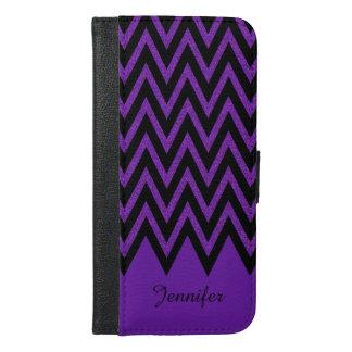 魅力的な紫色のシェブロンのiPhone 6のプラスのウォレットケース