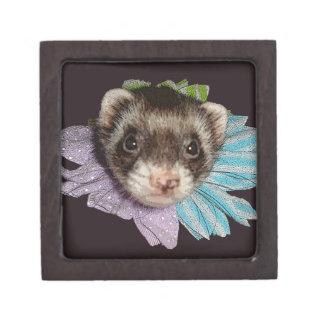 魅力的な花のフェレットの記念品箱 ギフトボックス