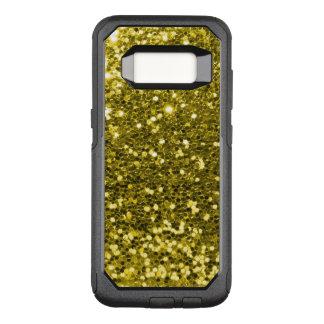 魅力的な金ゴールドのゴールド・トーン模造のなグリッターの黄色 オッターボックスコミューターSamsung GALAXY S8 ケース