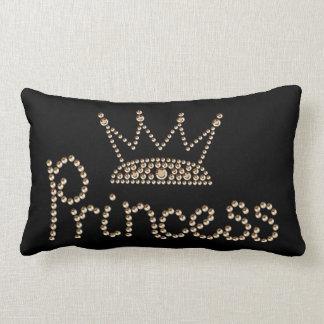 魅力的な金ゴールドのプリンセスの王冠 ランバークッション