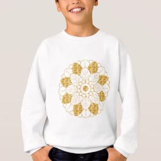 魅力的な金ゴールドの曼荼羅のエレガントなデザイン スウェットシャツ