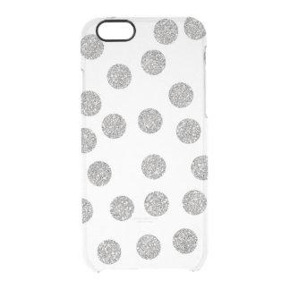 魅力的な銀製のダイヤモンドの点の紙吹雪のiPhone Clearly™ クリアiPhone 6/6Sケース