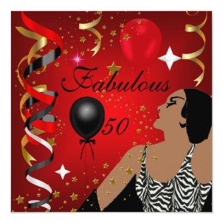 魅力的なFabulous 50女性50誕生会4 カード
