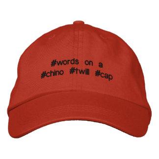 魅力的なhashtagのあや織りの帽子、完全に! 刺繍入りキャップ