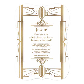 魅力的なWhite1920すばらしいGatsbyの20年代の披露宴 カード