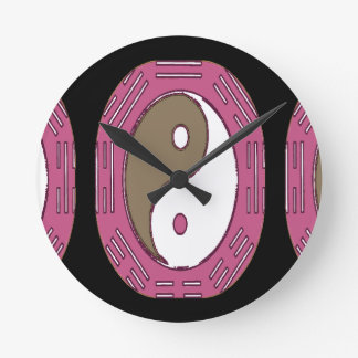 魅力- Yingヤンの法律 ラウンド壁時計