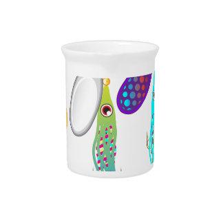 魅惑を釣るイカの魚釣りの魅惑の紡績工のベクトル ピッチャー