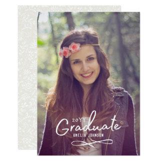 魅惑的な卒業生の写真の発表 12.7 X 17.8 インビテーションカード