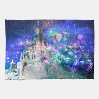 魔法のおとぎ話のファンタジーの城の台所タオル キッチンタオル