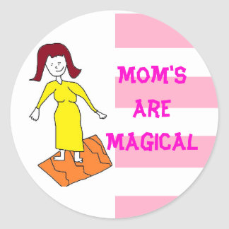 魔法のお母さんのステッカー ラウンドシール