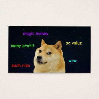 魔法のお金DogeCard 名刺