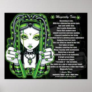 魔法のようにVivian緑のCybergothの有毒な詩ポスター ポスター