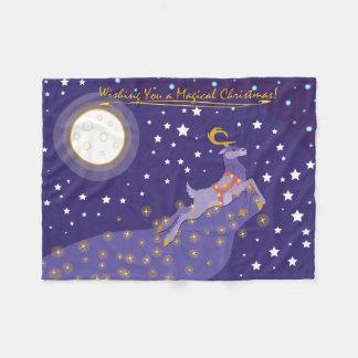魔法のクリスマス フリースブランケット