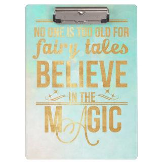 魔法のクリップボードで信じて下さい クリップボード