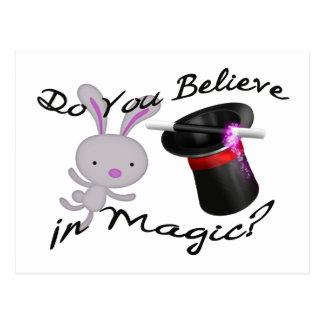 魔法のシルクハット及びウサギで信じます ポストカード