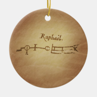 魔法のシールの天使Raphaelの保護魔法のチャーム セラミックオーナメント