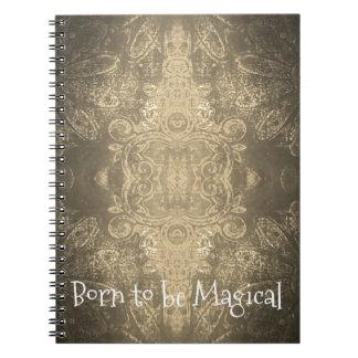 魔法のノート(80ページB&W)があるために生まれて下さい ノートブック