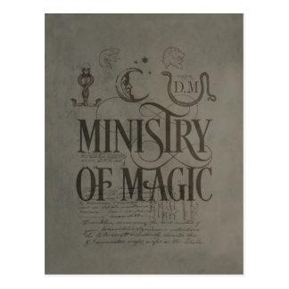 魔法のハリー・ポッターシリーズの綴り|大臣 ポストカード