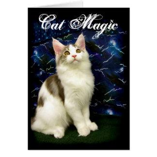 魔法のハロウィン猫の挨拶状 カード