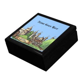 魔法のルネサンスの村のデザイン ギフトボックス