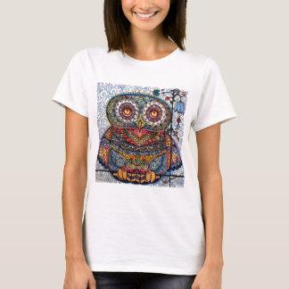 魔法の写実的なフクロウの絵画 Tシャツ