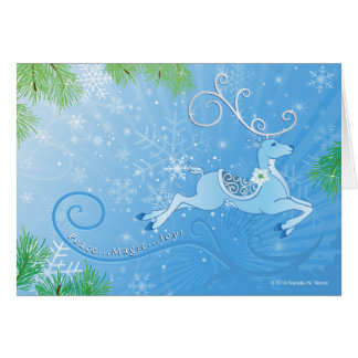 魔法の冬のトナカイ カード