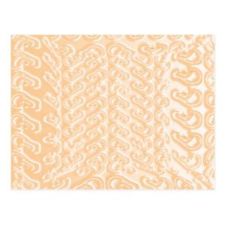 魔法の庭: 青いピンクの金テンプレート ポストカード