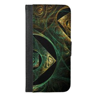 魔法の振動抽象美術のウォレットケース iPhone 6/6S PLUS ウォレットケース