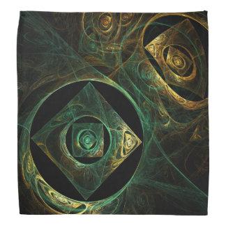 魔法の振動抽象美術 バンダナ