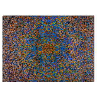 魔法の曼荼羅の青 カッティングボード