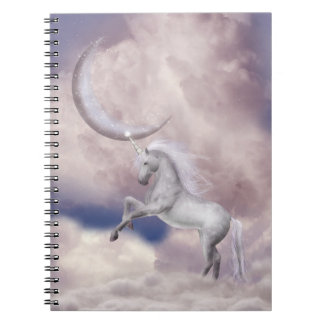 魔法の月のユニコーンのノート ノートブック