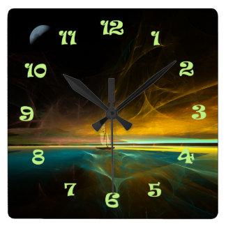 魔法の月光の航海 スクエア壁時計