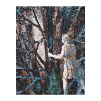 魔法の森林のダイアナ-狩りの女神 キャンバスプリント