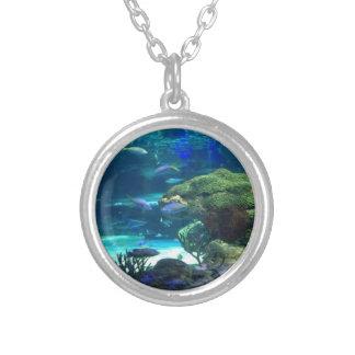 魔法の珊瑚礁 シルバープレートネックレス