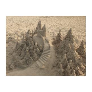 魔法の砂の城 ウッドウォールアート