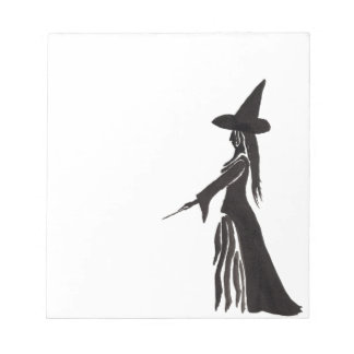 魔法の細い棒を持つ魔法使い ノートパッド