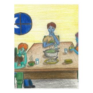 魔法の緑のコップの夕食 ポストカード